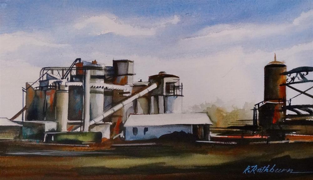 """Insights On Industry II"" original fine art by Kathy Los-Rathburn"