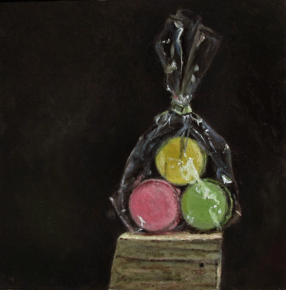 """Des Macarons"" original fine art by Ulrike Miesen-Schuermann"