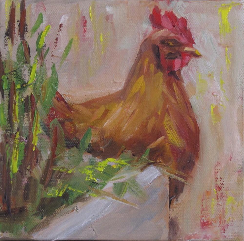 """""""Attitude"""" original fine art by Helen Moreda"""