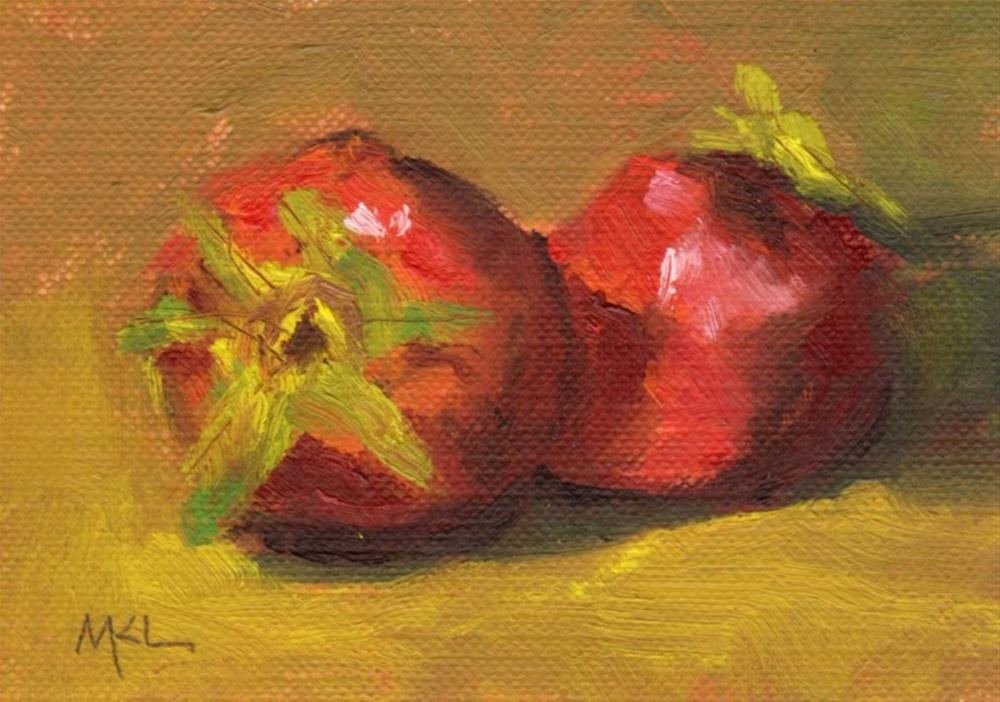 """Just Ripe"" original fine art by Marlene Lee"