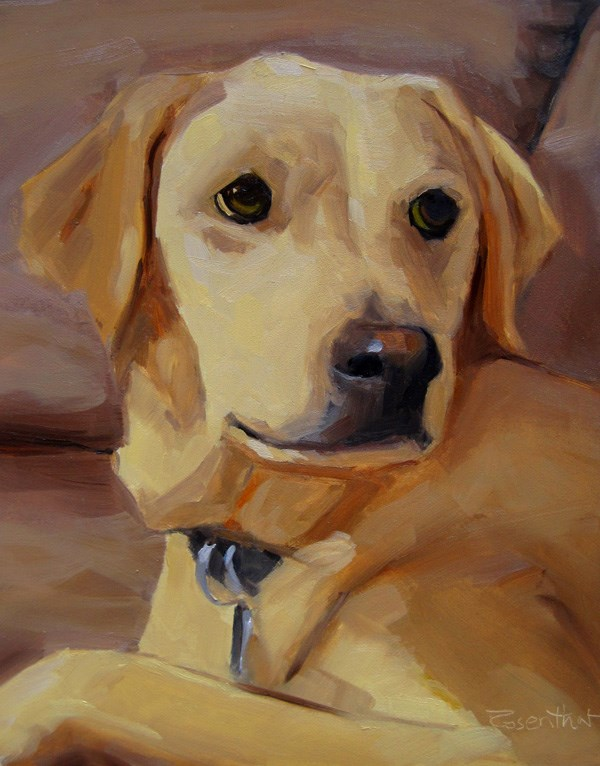 """Buddy"" original fine art by Robin Rosenthal"