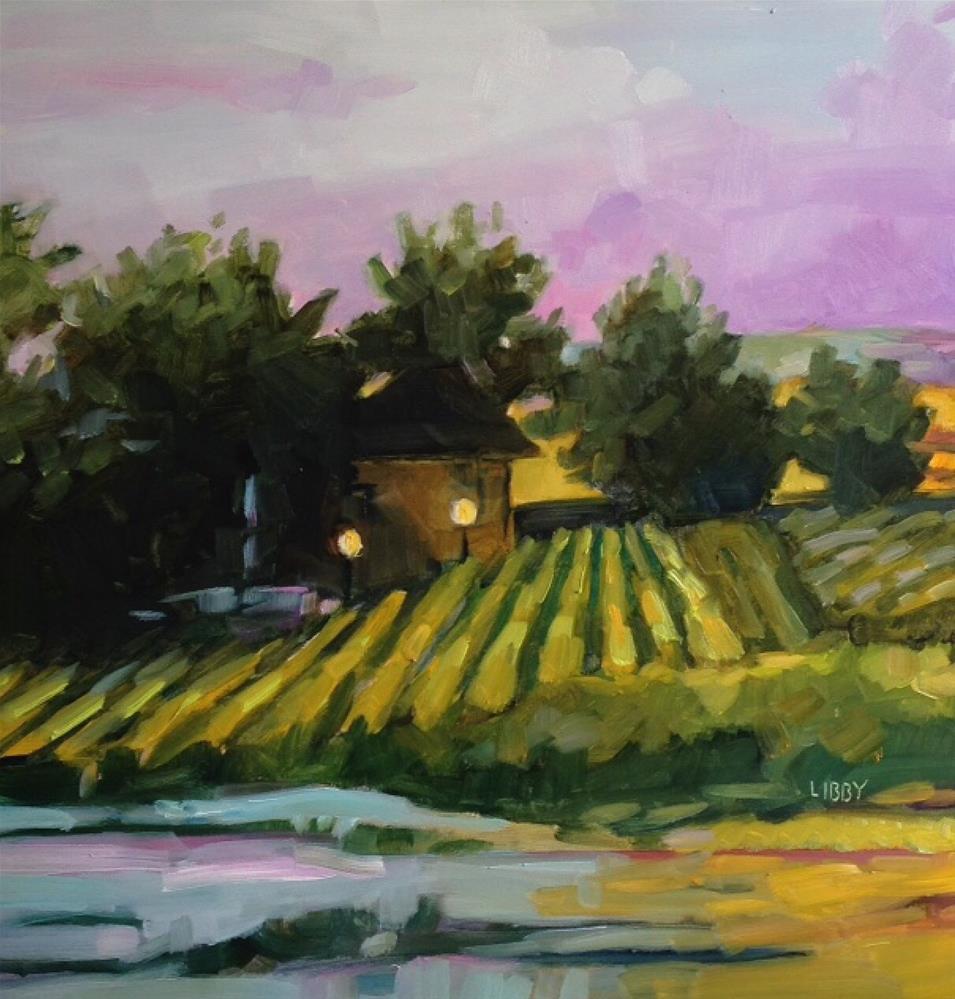 """Rudesheim"" original fine art by Libby Anderson"