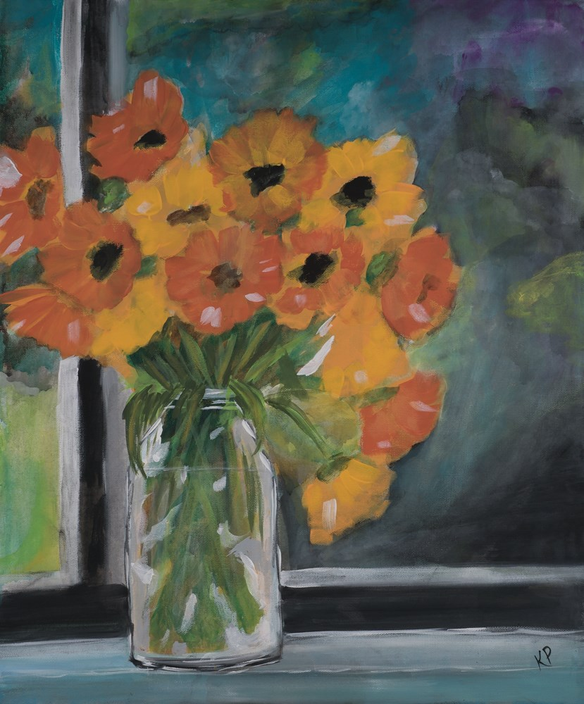 """Orange Burst"" original fine art by Kali Parsons"