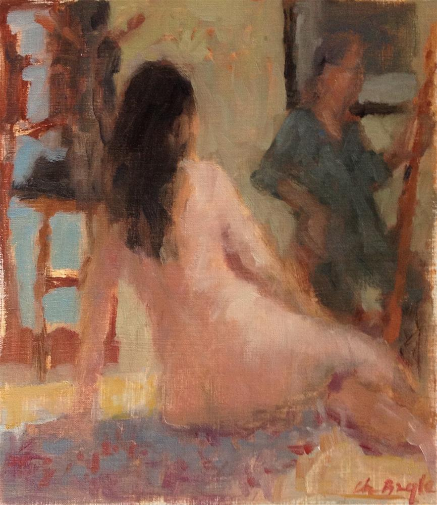 """The model"" original fine art by Christine Bayle"