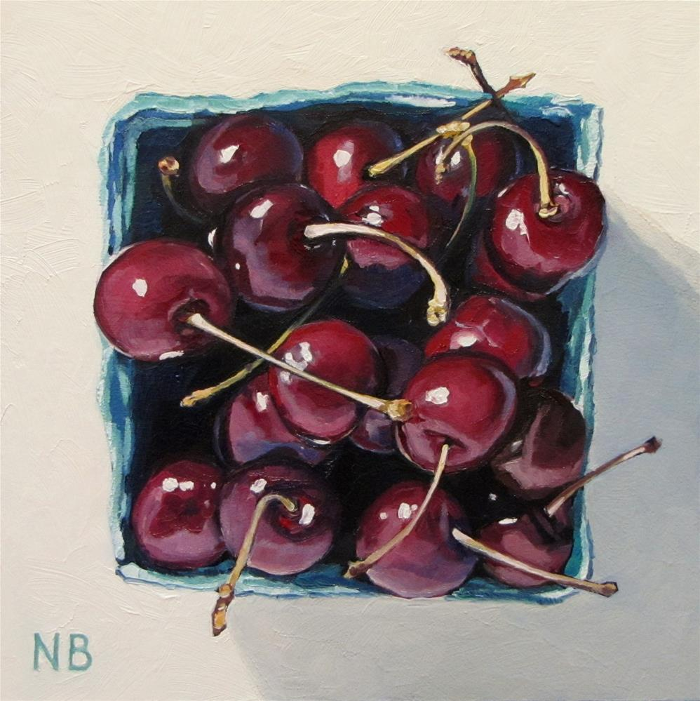 """Cherries on Top"" original fine art by Nora Bergman"