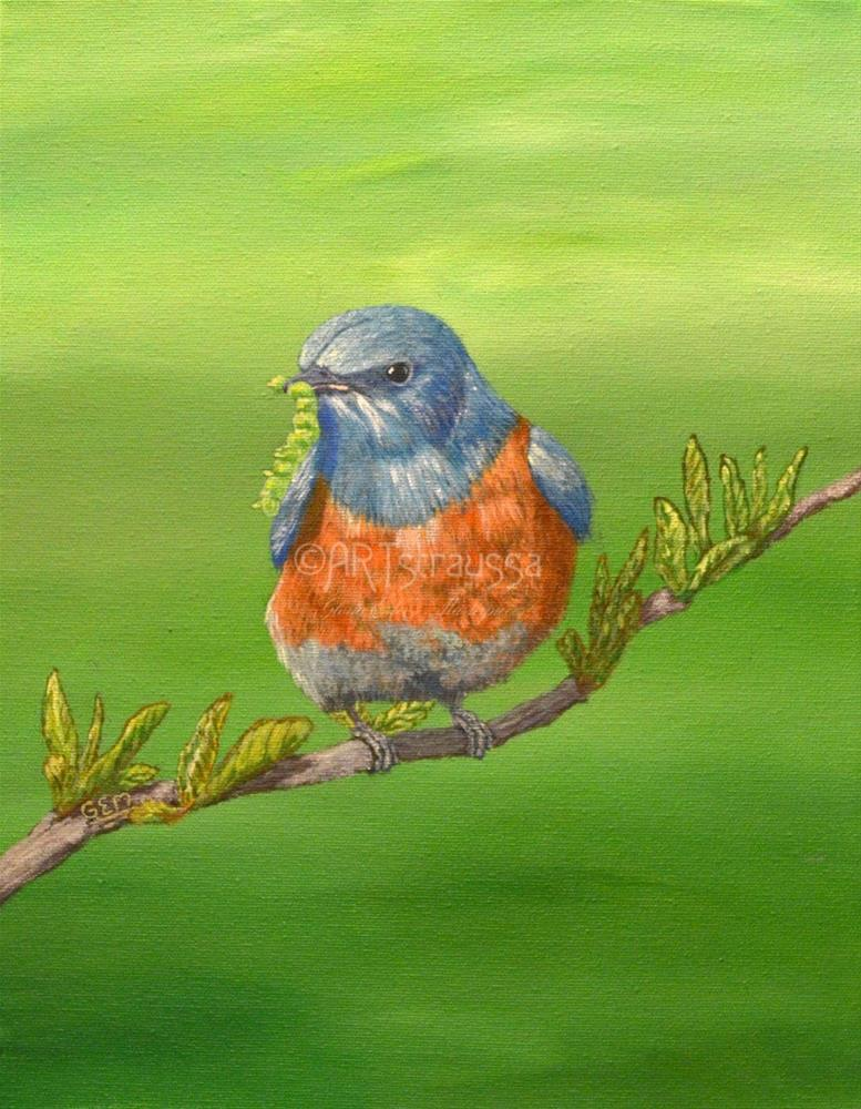"""Early Bird"" original fine art by Gloria Ester"