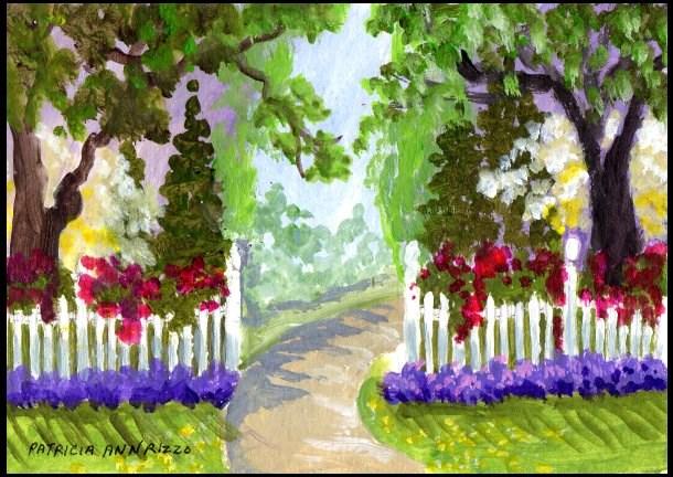 """""""My Garden"""" original fine art by Patricia Ann Rizzo"""