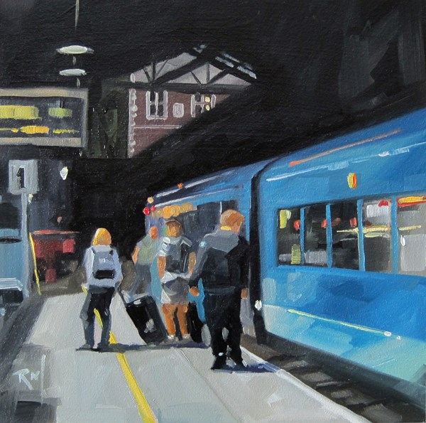 """No 796 End of the Line"" original fine art by Robin J Mitchell"