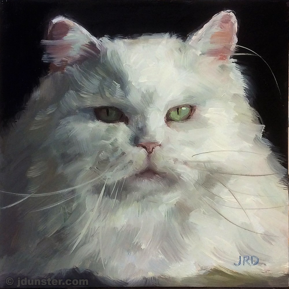 """Jabba the Cat"" original fine art by J. Dunster"