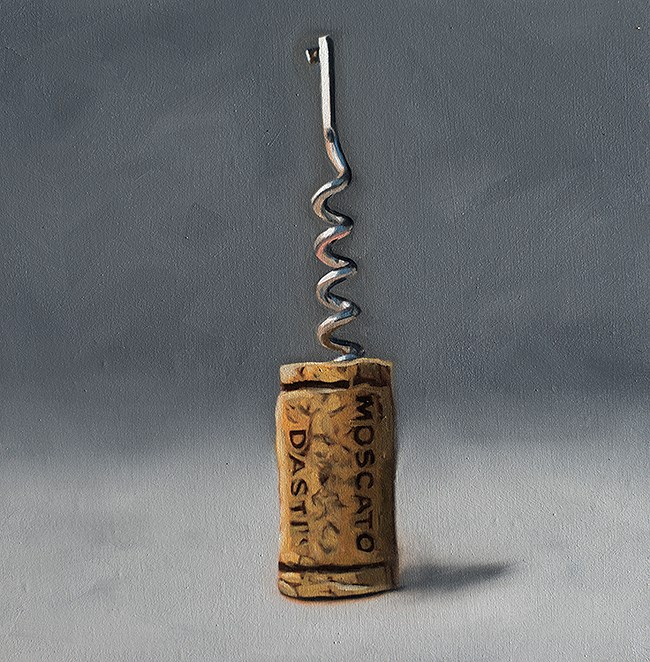 """Cork Screw"" original fine art by Lauren Pretorius"