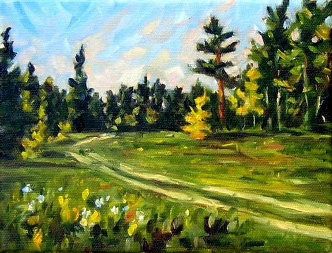 """Path to the Summer"" original fine art by Irina Beskina"