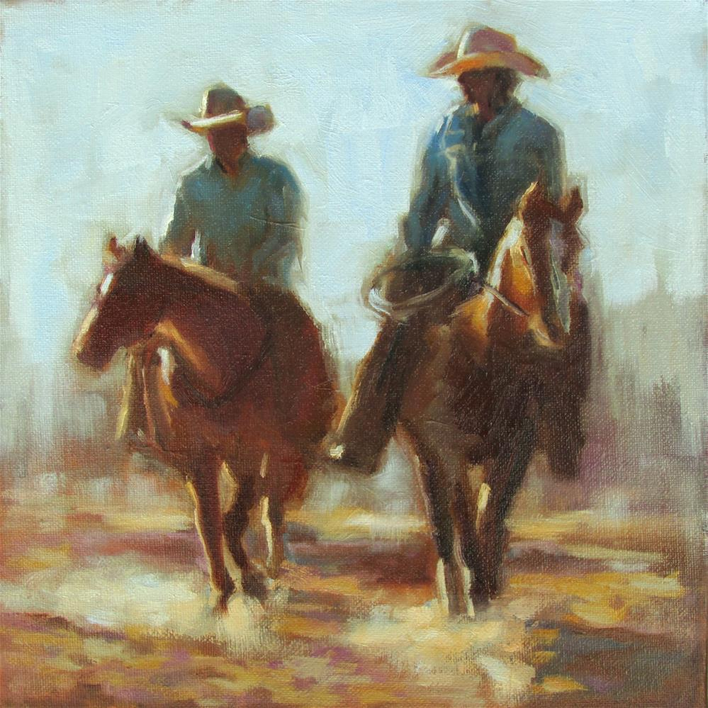 """The Long Ride"" original fine art by Dana Cooper"