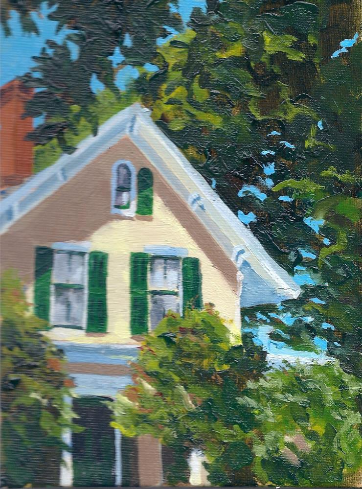 """""""Yellow House with Shade"""" original fine art by Richard Doyle"""