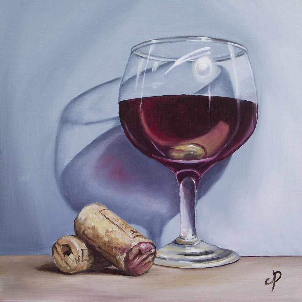 """Evening tipple"" original fine art by Jane Palmer"