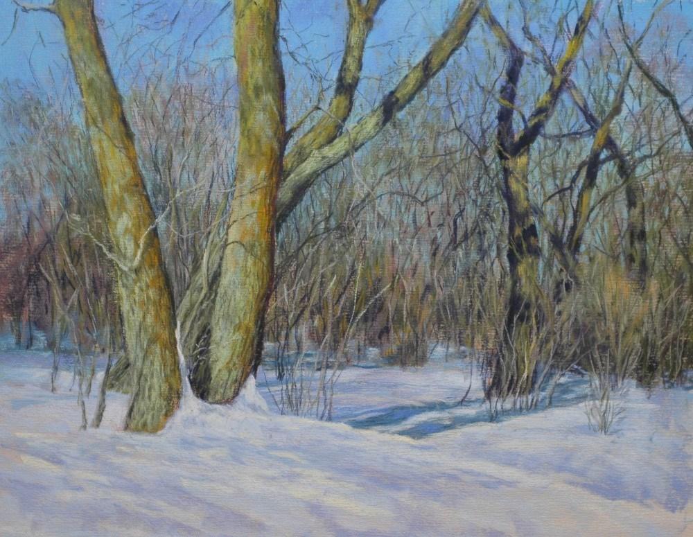 """December Morning"" original fine art by Susan Klabak"