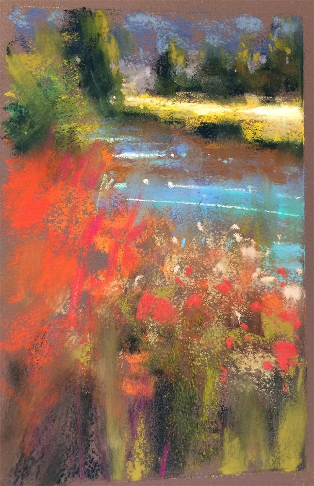 """Red & Blue"" original fine art by Marla Baggetta"