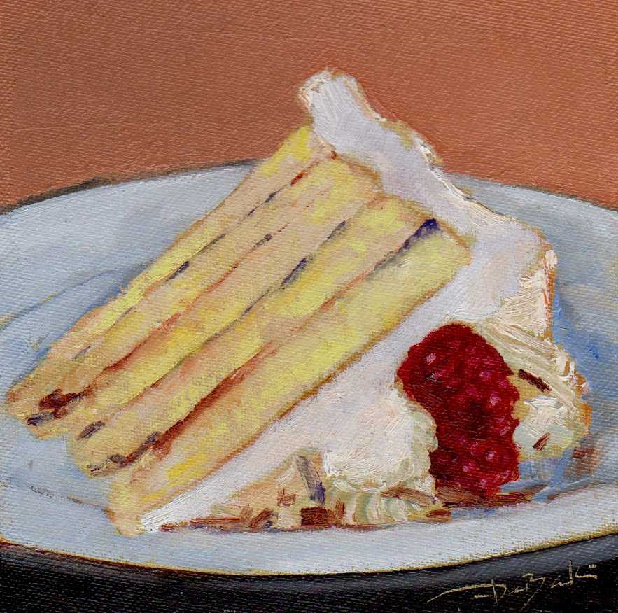 """""""a piece of cake"""" original fine art by V. DeBak"""