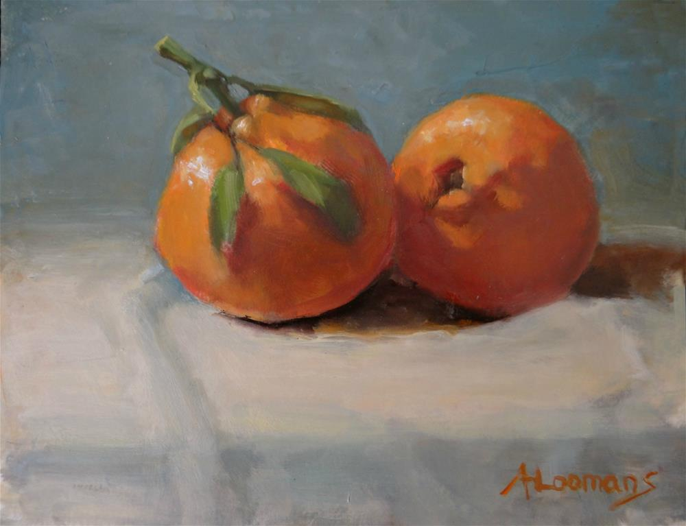 """Two Clementines 1"" original fine art by Adele Loomans"