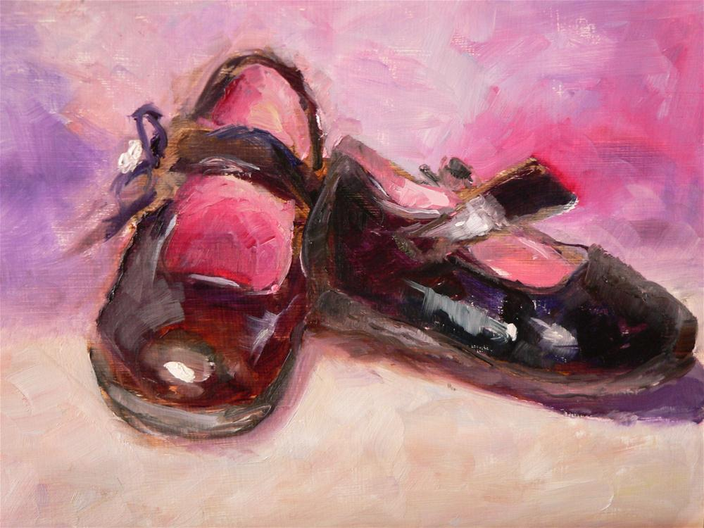 """Mary Janes"" original fine art by Carol Josefiak"
