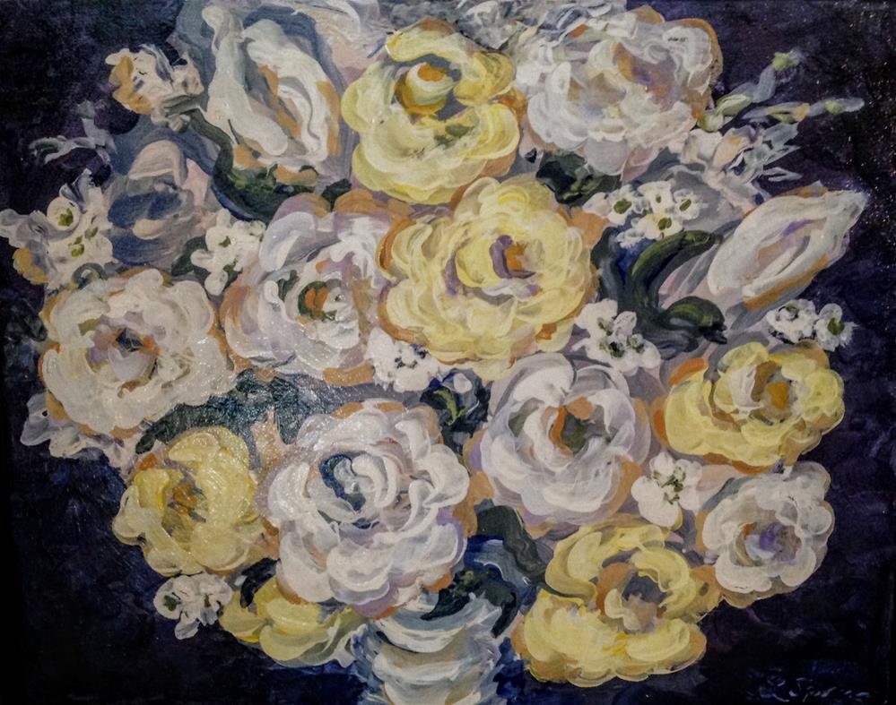 """Meghan's Bouquet"" original fine art by Leslie Spencer"