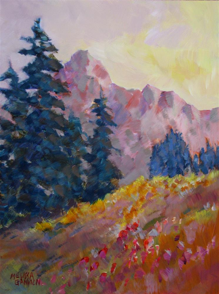 """Alpine Vista"" original fine art by Melissa Gannon"