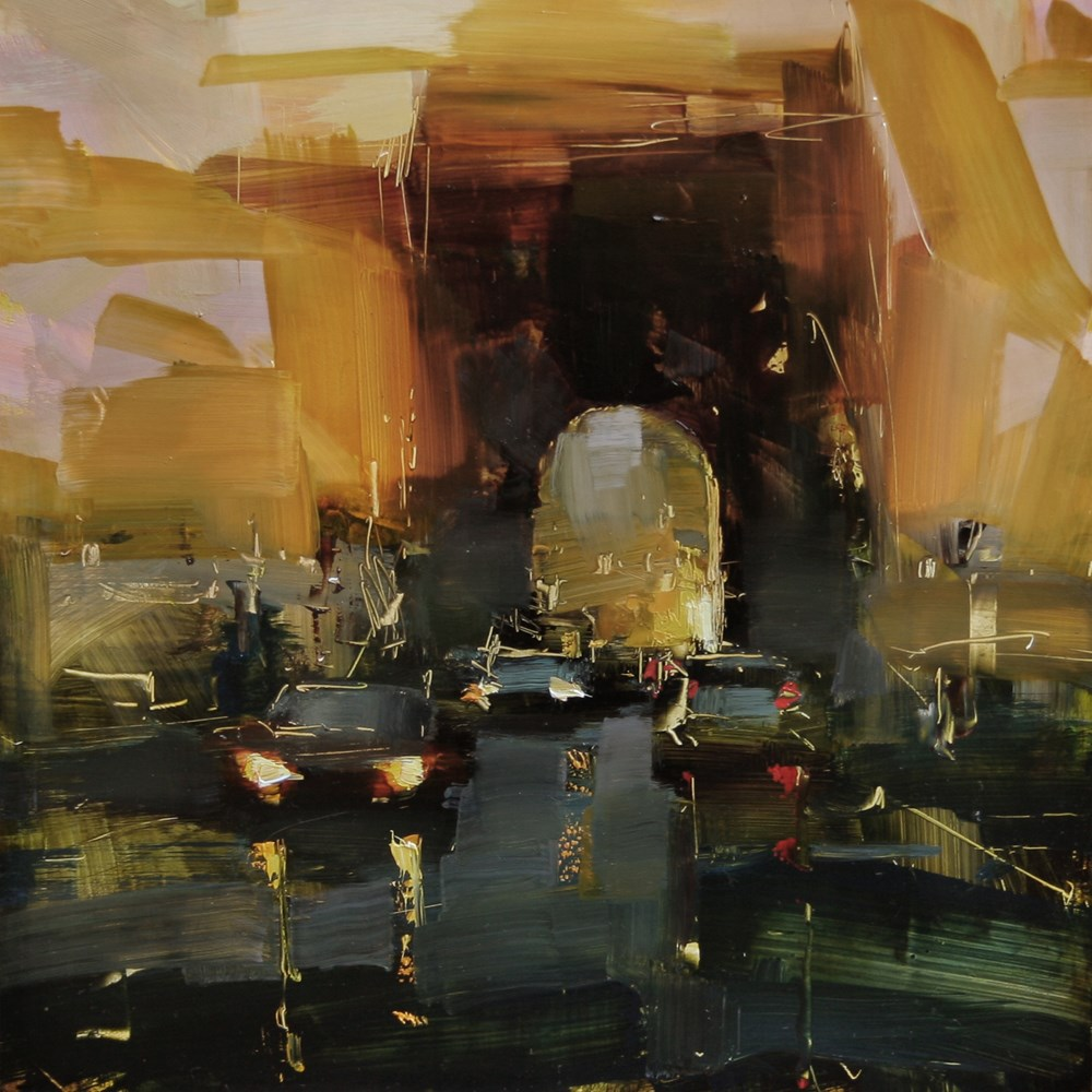 """Nightfall Sketch"" original fine art by Tibor Nagy"