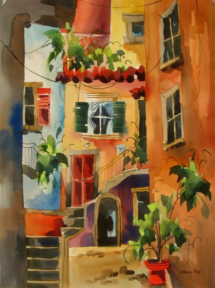 """Enchanting Alley in Italy"" original fine art by Jinnie May"