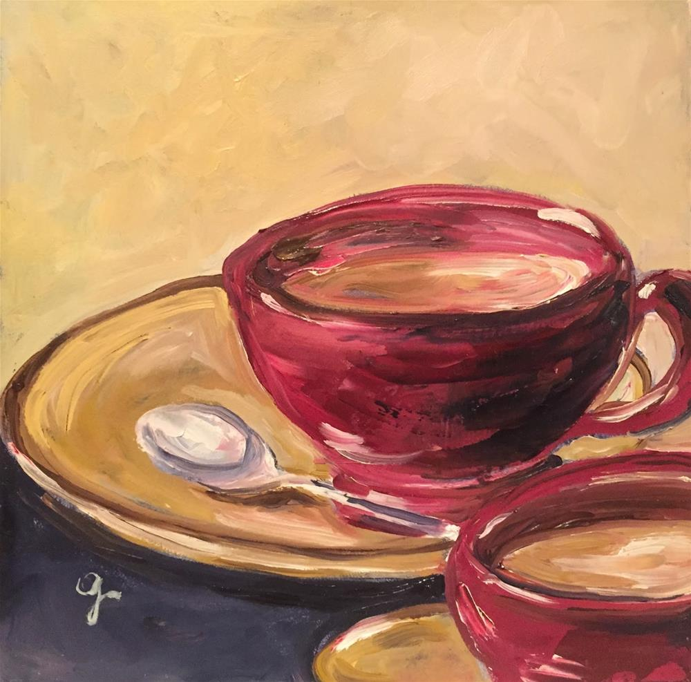 """Morning Coffee"" original fine art by Gayle Lambeth"