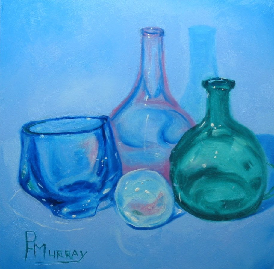 """Reflections in Glass"" original fine art by Patricia Murray"