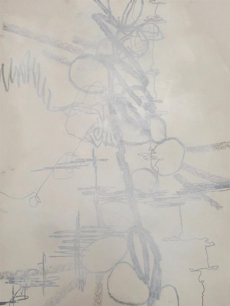 """Lines, Layers, B&W, Day 2"" original fine art by Dotty  Seiter"