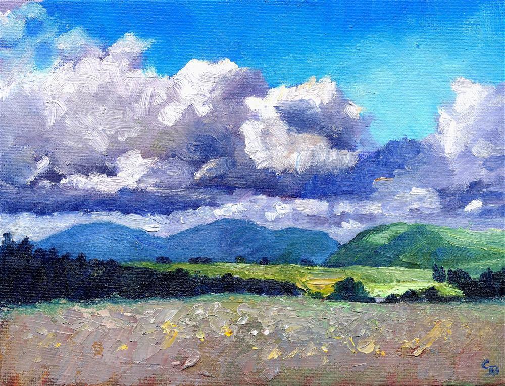 """Summer Masses"" original fine art by Christine Derrick"