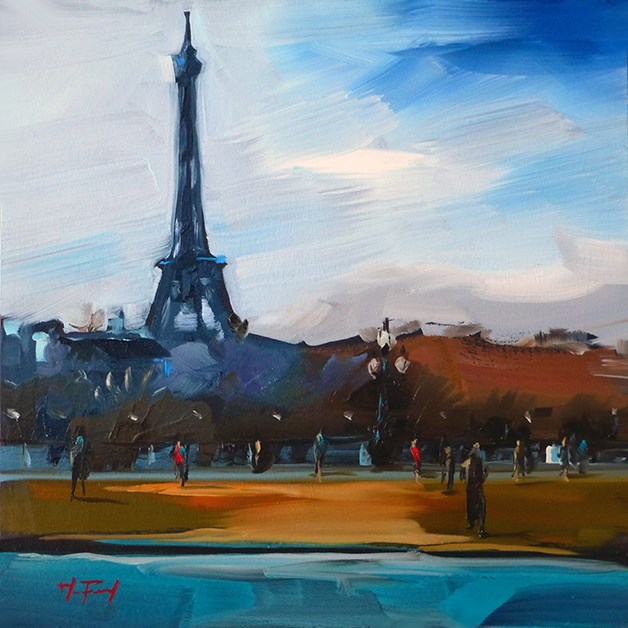 """Paris"" original fine art by Jurij Frey"