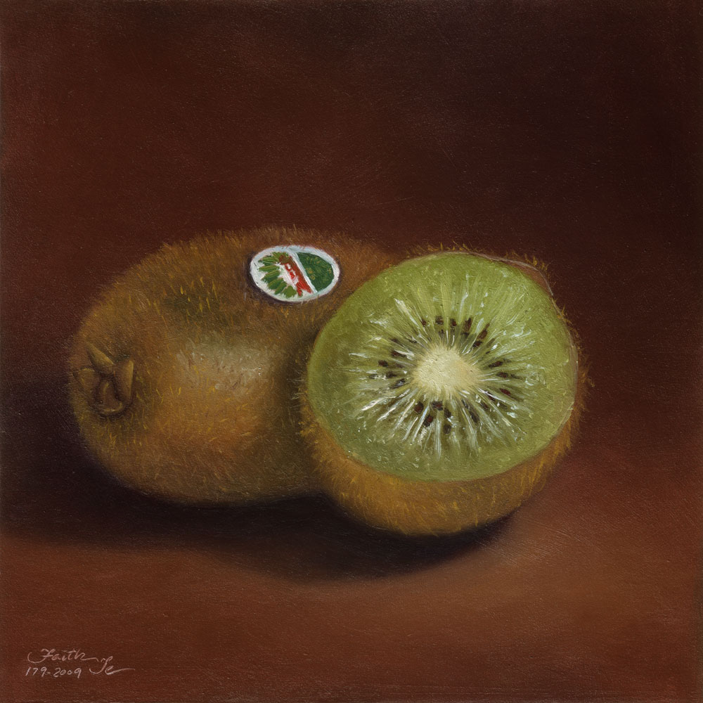 """Kiwi"" original fine art by Faith Te"