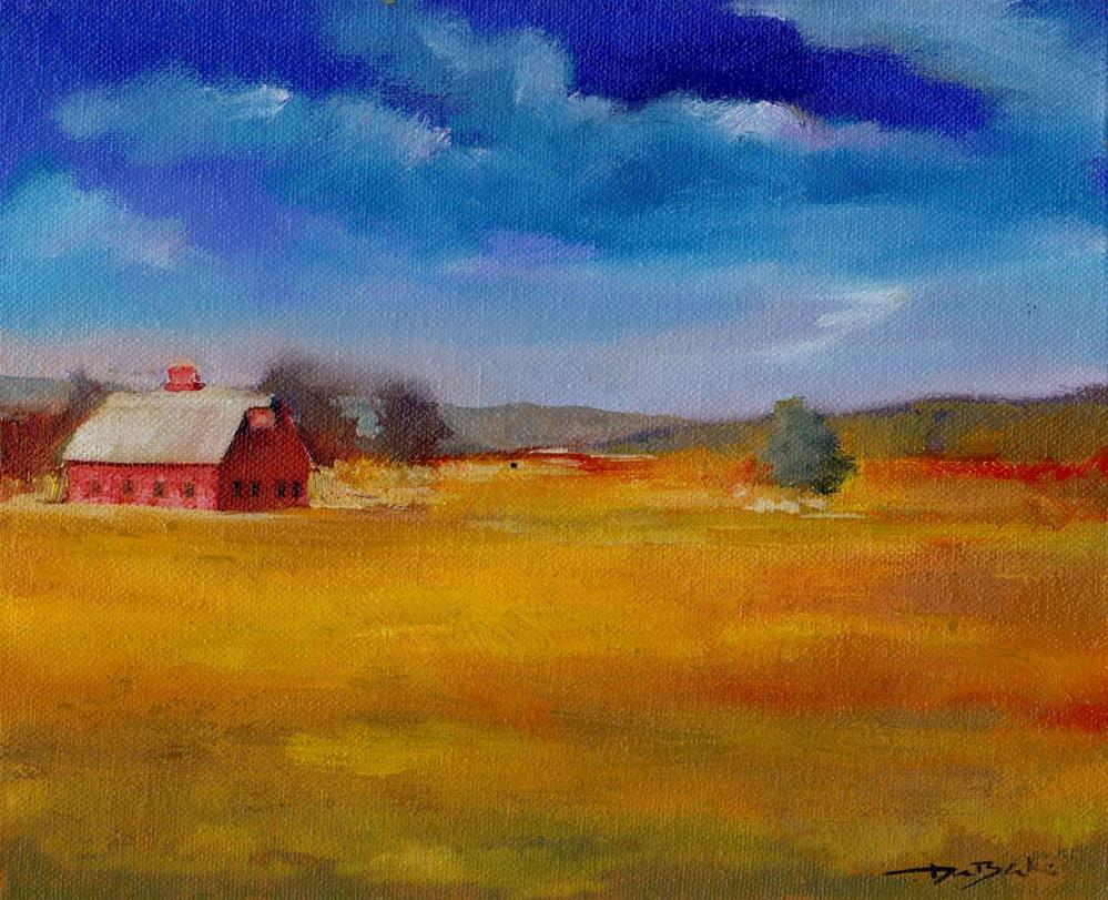 """old barn"" original fine art by Vova DeBak"