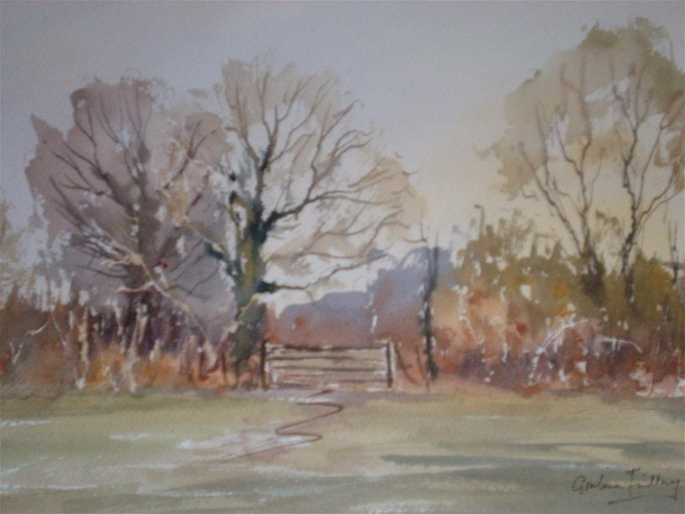 """Across the Field"" original fine art by Graham Findlay"