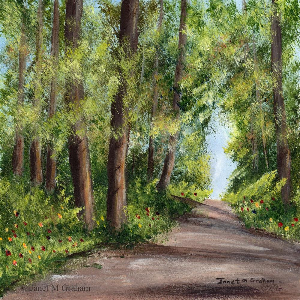 """Summer Forest"" original fine art by Janet Graham"