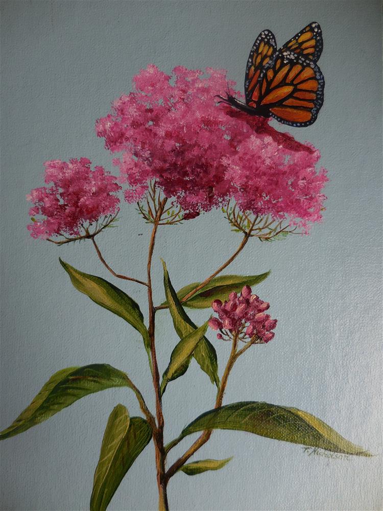 """Milkweed"" original fine art by Terri Nicholson"