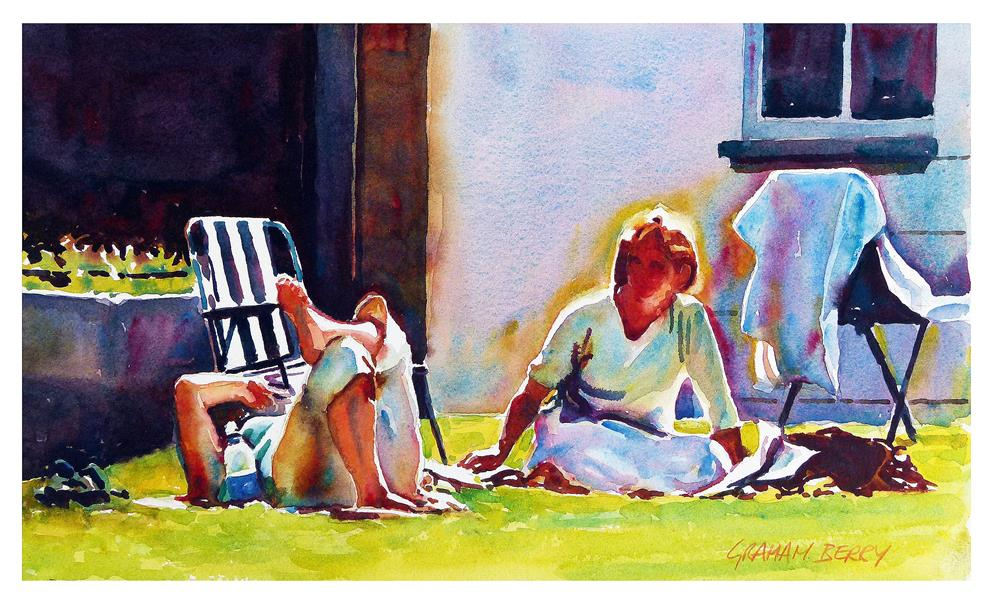 """Relaxing in the sun"" original fine art by Graham Berry"