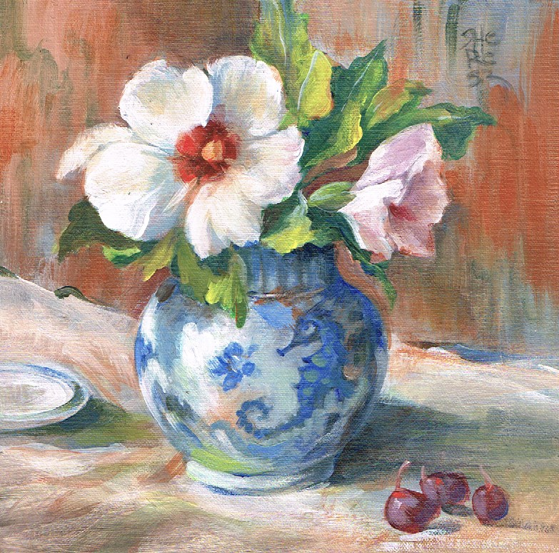 """First Flowers - Theresa Taylor Bayer"" original fine art by Theresa Taylor Bayer"