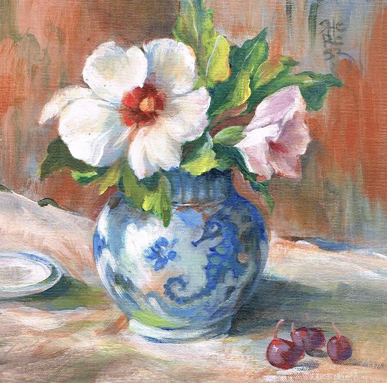 """First Flowers - Theresa Taylor Bayer"" original fine art by Theresa Taylor Bayer"