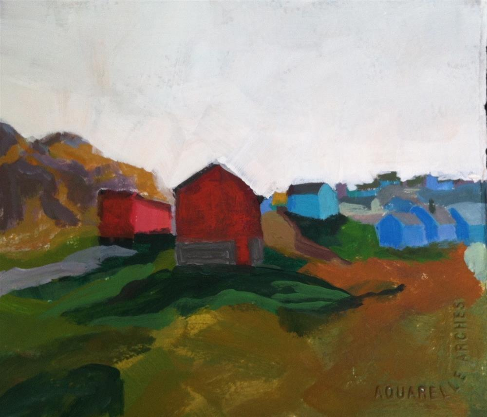 """Greenland"" original fine art by Christine Parker"