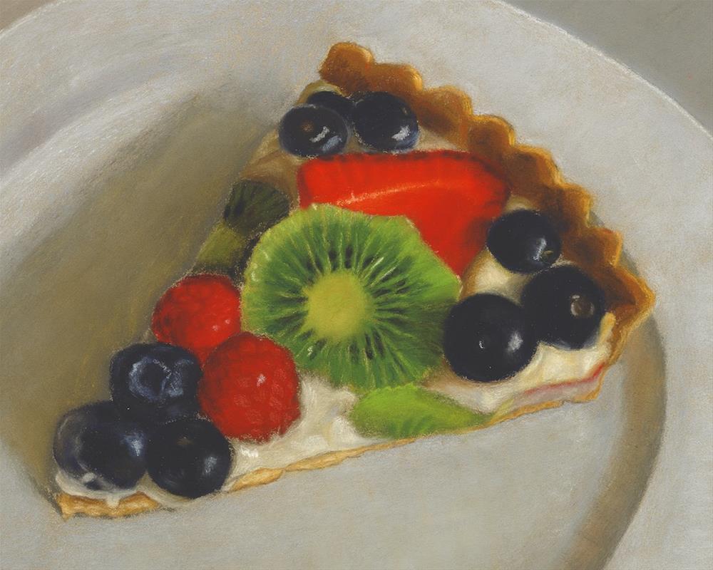 """""""Fruit Tart"""" original fine art by Susan Fern"""