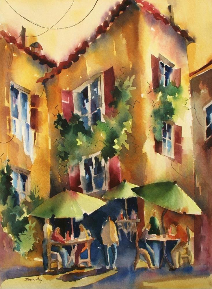 """Chez Michel"" original fine art by Jinnie May"