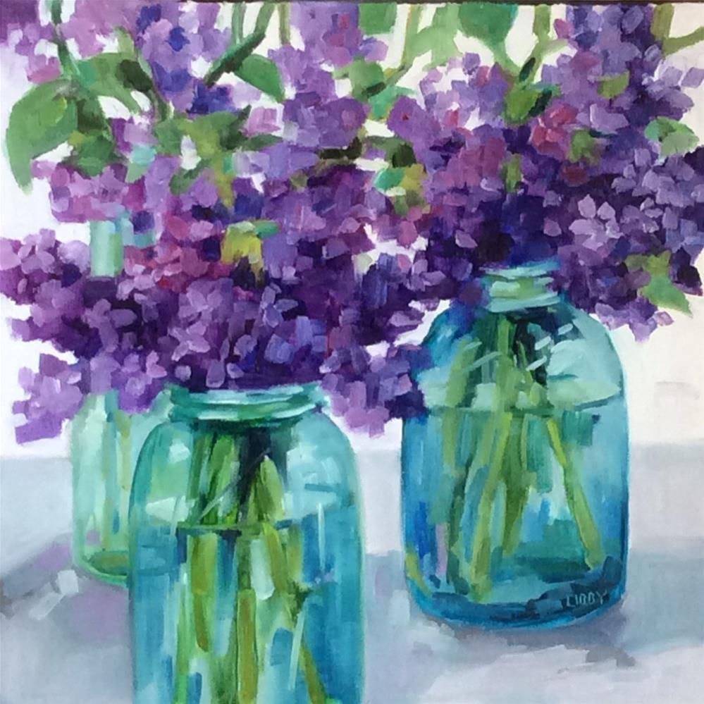 """Lilac Lane"" original fine art by Libby Anderson"