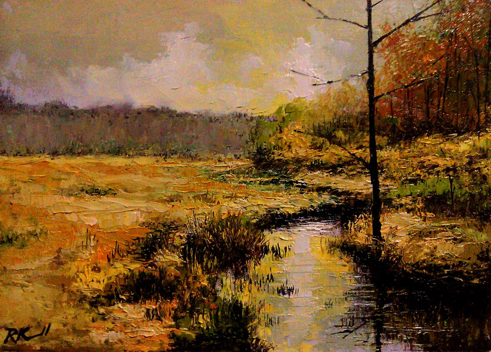 """The Old Tree by the Stream"" original fine art by Bob Kimball"