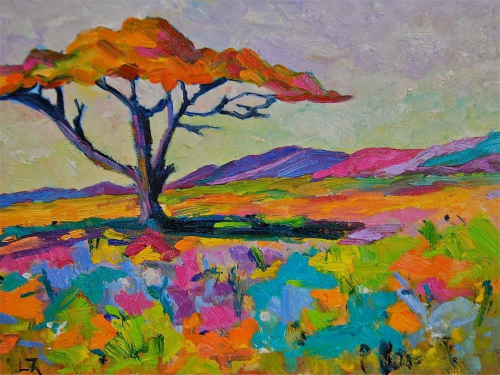 """Serengeti Beauty"" original fine art by Liz Zornes"