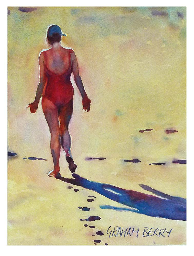 """Meditation walk"" original fine art by Graham Berry"