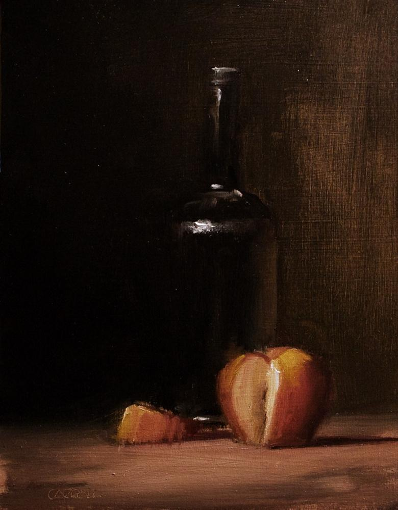 """Sliced Apple - study"" original fine art by Neil Carroll"