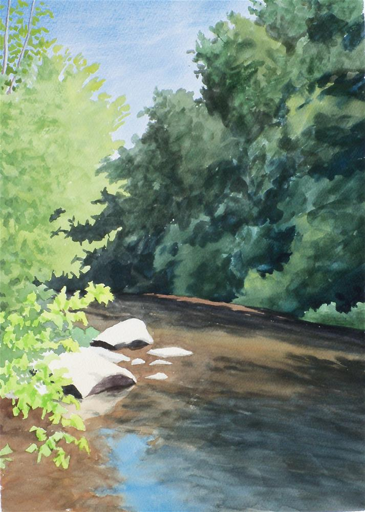 """Daddy's Creek VI"" original fine art by Greg Arens"