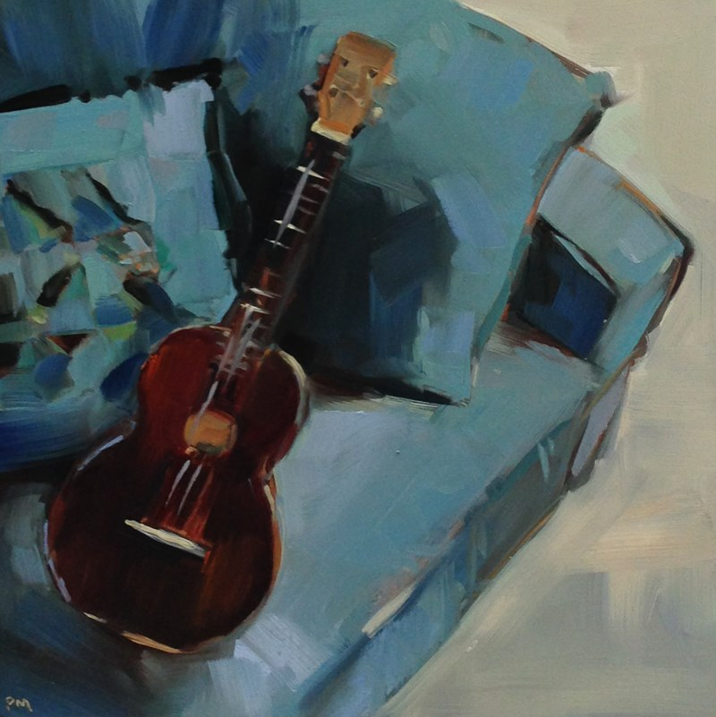"""U is for Ukelele"" original fine art by Patti McNutt"